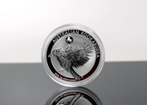 2018 Australian Kookaburra Year of the Dog Privy Mark 1oz Silver Bullion Coin