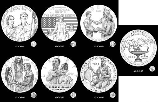 50c American Legion Obverse Design Candidates