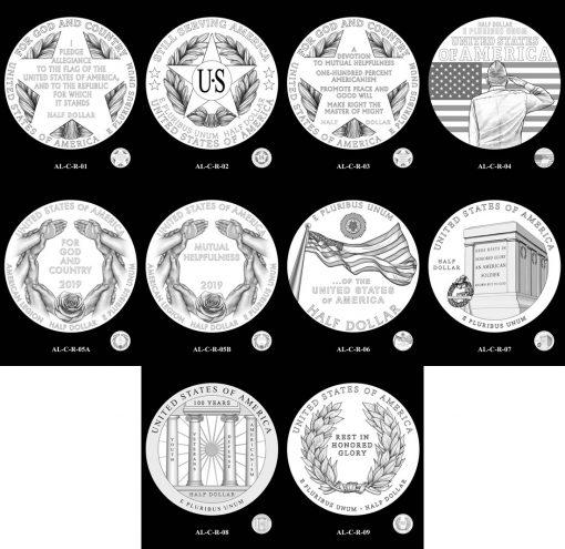50c American Legion Reverse Design Candidates