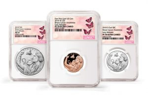 NGC Special Labels for Breast Cancer Awareness Commemorative Coins