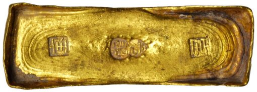CHINA. 10 Tael Gold Ingot, ND (ca. 1750)
