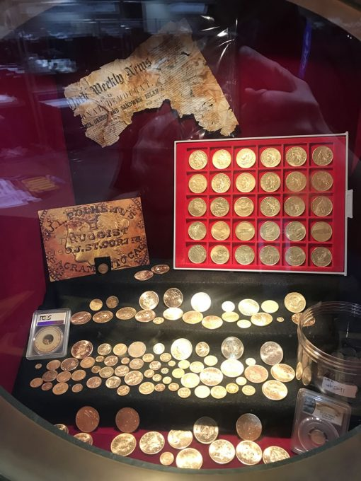 Some SSCA gold coins