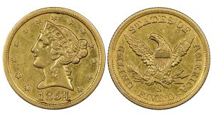 DLRC and John Albanese Acquire 1854-S $5 Gold Coin