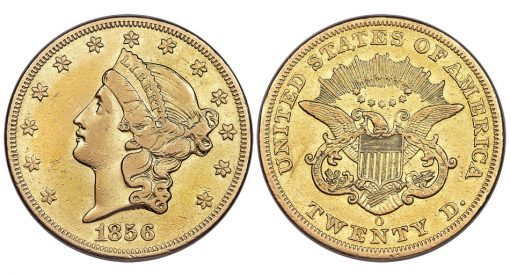 1856-O Liberty Double Eagle, XF Details