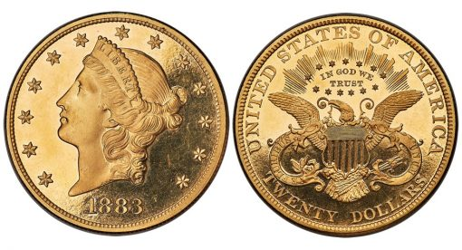 1883 Liberty Double Eagle, PR64 Deep Cameo