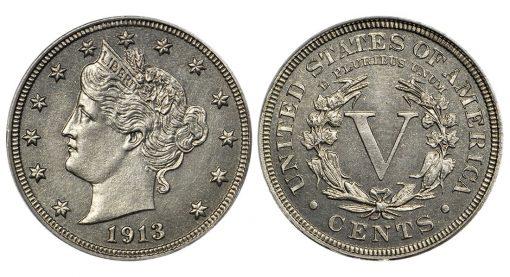 1913 Liberty Head nickel pcgs-pr66