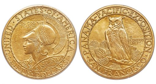 1915-S Panama-Pacific Round Fifty Dollar Gold Piece