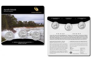 Apostle Islands Quarters for Michigan in Three-Coin Set