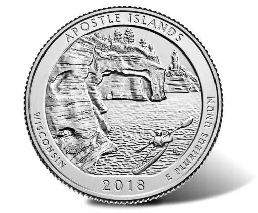 2018 Apostle Islands National Lakeshore Quarter - reverse