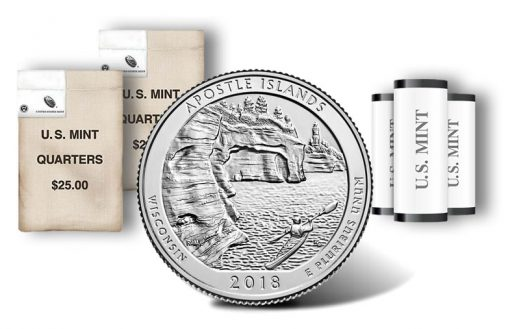Apostle Islands National Lakeshore quarter, rolls and bags