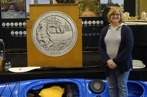 Attendee at Apostle Islands National Lakeshore Quarter Ceremony