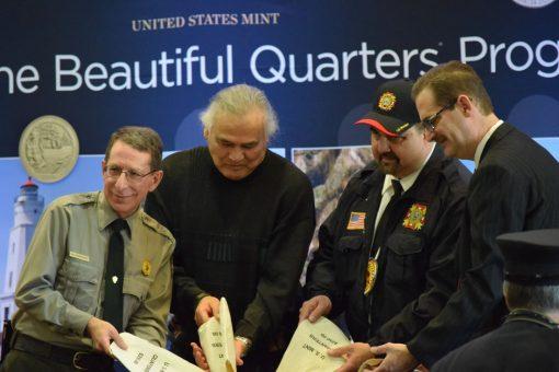 Bob Krumenaker, Tribal Elders, and Mint Marc Landry