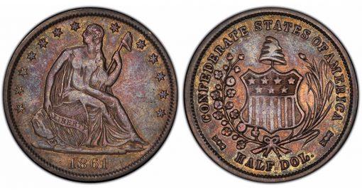 CSA 1861 half dollar