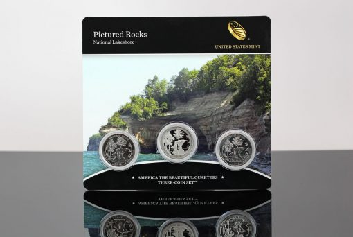 Photo of 2018 Pictured Rocks National Lakeshore Quarters Three-Coin Set