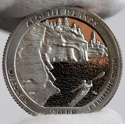 Photo of a 2018-S Proof Apostle Islands National Lakeshore Quarter