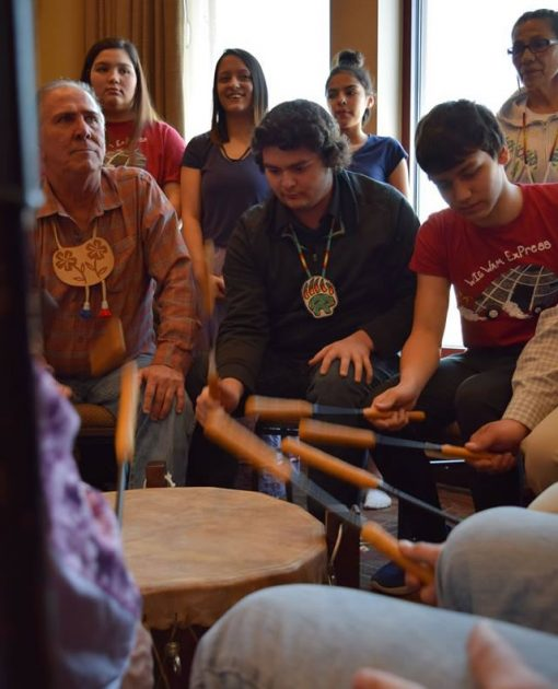 Wiigwaam Express and the Red Cliff Youth Drum Group
