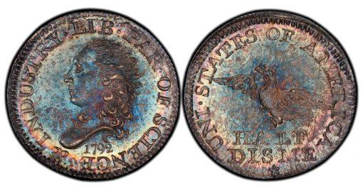 1792 half disme Rittenhouse PCGS MS-68 (1)