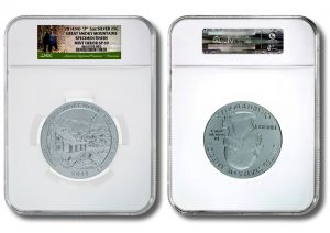 NGC Certifies Mint Error on Great Smoky Mountains 5 Oz Silver Coins
