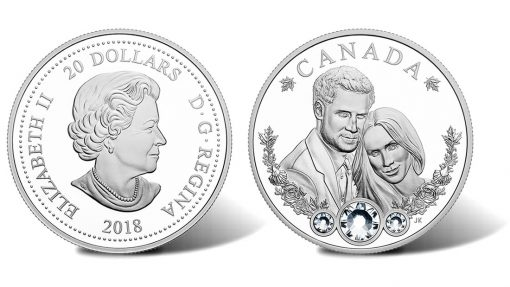 2018 $20 Royal Wedding of Prince Harry and Meghan Markle 1oz. Silver Coin