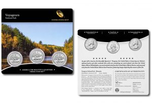 2018 Voyageurs National Park Quarter Three-Coin Sets