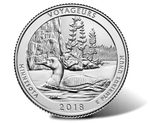 2018 Voyageurs National Park Quarter - reverse