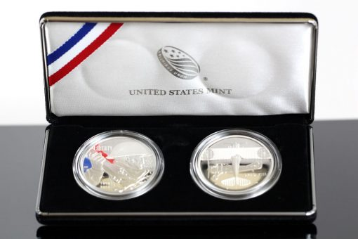 Photo of World War I Centennial Silver Dollar and Air Service Medal Set