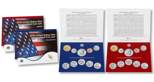 United States Mint 2018 Uncirculated Coin Set