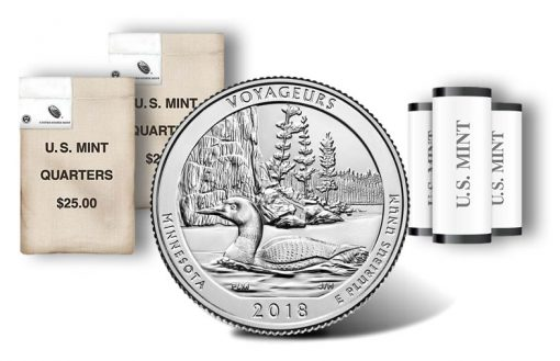 Voyageurs National Park quarter, rolls and bags