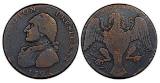 Washington Eagle cent WITHOUT hole
