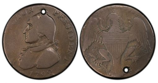 Washinton Eagle cent WITH hole
