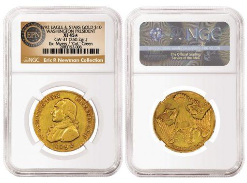 1792 Washington President Gold Eagle