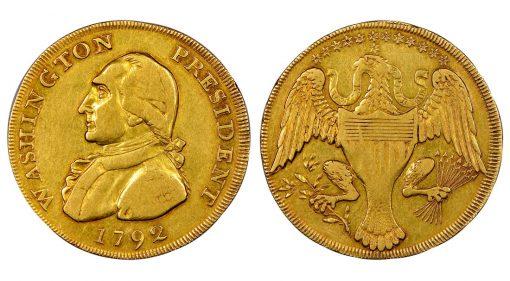 1792 Washington President Gold Eagle,a