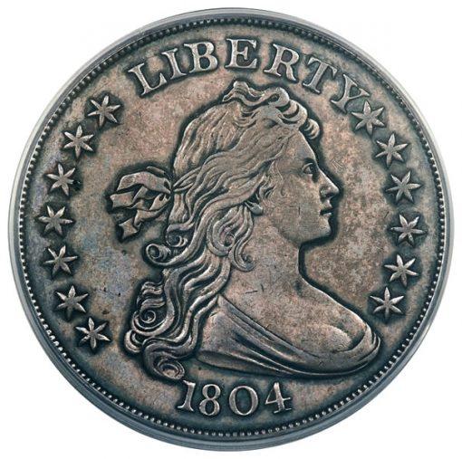 1804 $1 PCGS Proof 62 (ex: Mickley, Hawn, Queller)