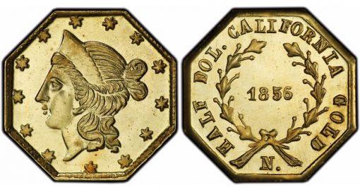 1856 50c BG311 PCGS MS68+PL