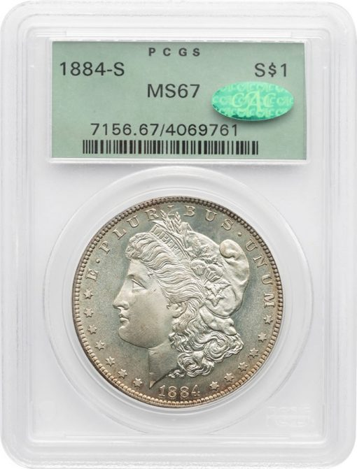 1884-S Morgan PCGS MS67