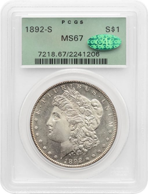 1892-S Morgan PCGS MS67