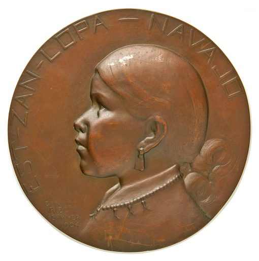 1904 Sawyer Bronze Galvano - Navajo Indian EST-ZAN-LOPA