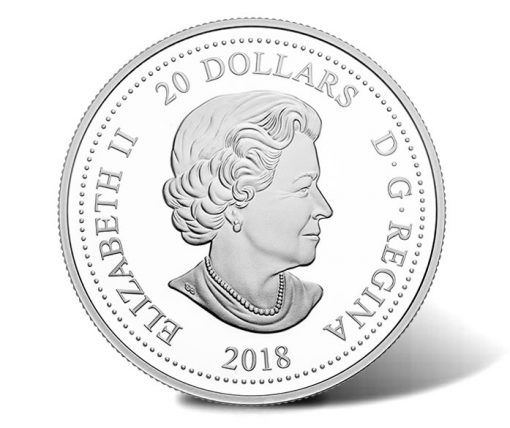 2018 $20 150th Anniversary of the RASC Silver Coin - Obverse