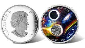 Canadian 2018 $20 Silver Coin Includes Meteorite Fragment