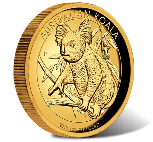 2018 Australian Koala 1oz Gold Proof High Relief Coin