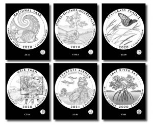 2020-2021 Quarter and 5 Oz Coin Design Candidates