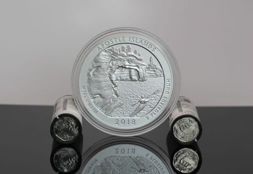 Apostle Islands National Lakeshore quarters and 5-ounce silver coin