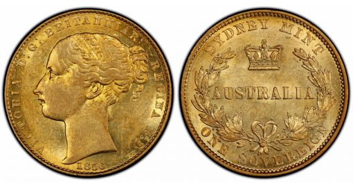 Australia 1856 Sovereign