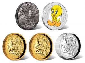 Perth Mint of Australia 2018 June Collector Coins Depict Koalas, Vikings and Tweety Bird