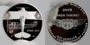 World War I Centennial 2018 Air Service Silver Medal Photos