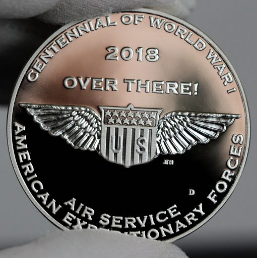 Photo of World War I Centennial 2018 Air Service Silver Medal - Reverse-a