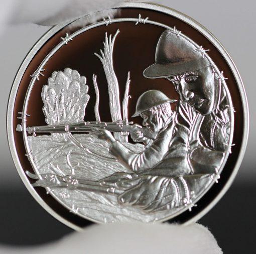 Photo of World War I Centennial 2018 Army Silver Medal - Obverse-a