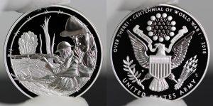 World War I Centennial 2018 Army Silver Medal Photos