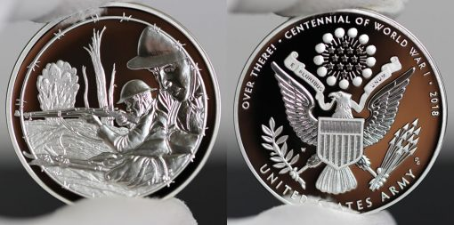 Photo of World War I Centennial 2018 Army Silver Medal - Obverse and Reverse-a