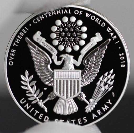 Photo of World War I Centennial 2018 Army Silver Medal - Reverse
